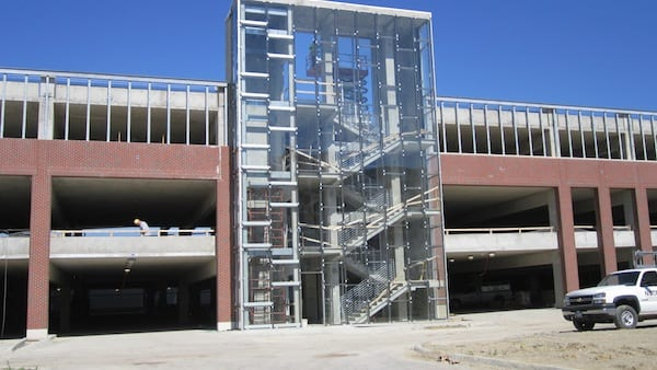 E. Staircase & Elevator of Parking Garage
