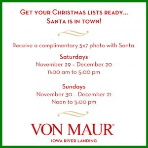IRL Social Media Post Santa Hours