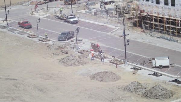 Installing Concrete Planters
