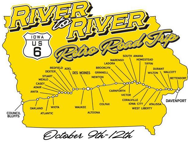 River to River Retro Road Trip | Iowa River Landing