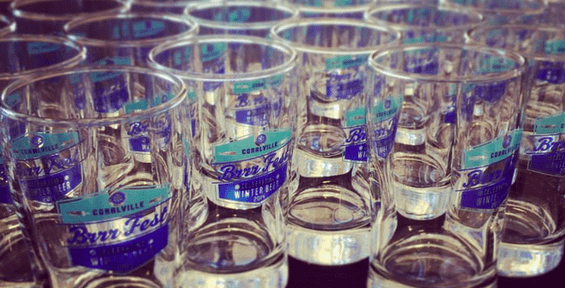 BrrrFest Iowa River Landing Glasses  | Coralville, Iowa